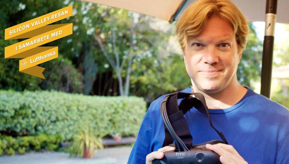 Vi åkte hem till Rikard Steiber – och testade coola VR-grejer