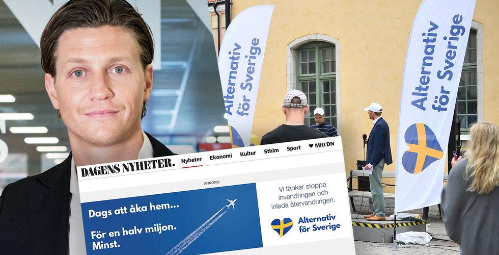 Så kunde högerradikala Alternativ för Sverige smyga in på DN genom internets bakdörr
