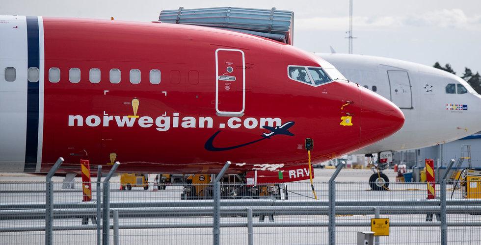 Passagerarantalet föll 95 procent för Norwegian – som är positiva inför julen