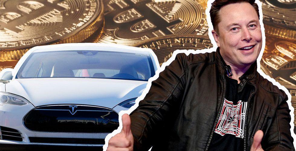 Tesla pumpar in 13 miljarder i bitcoin
