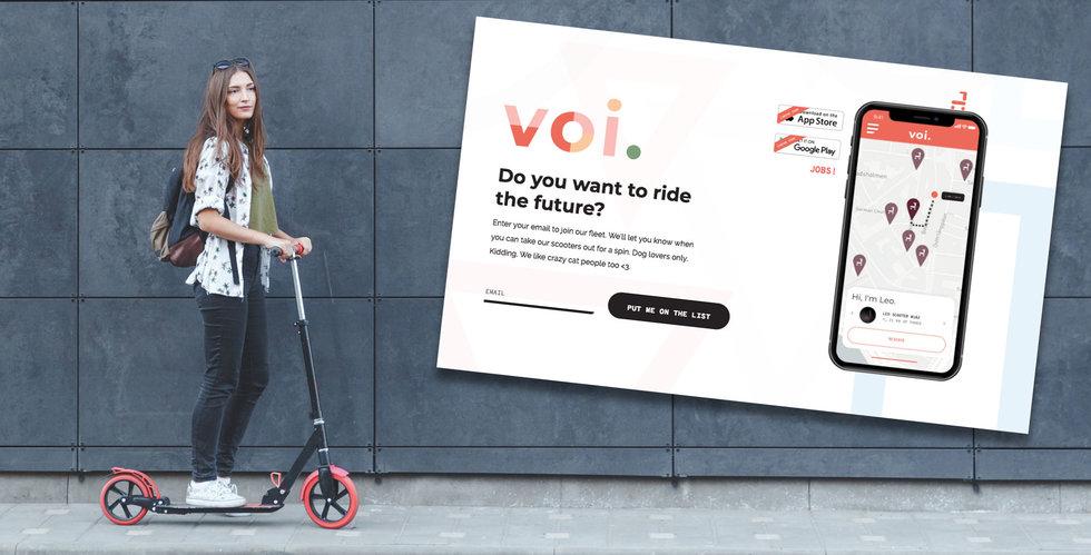 Voi Technology planerar delningstjänst för elscooter – backas av Vostok New Ventures