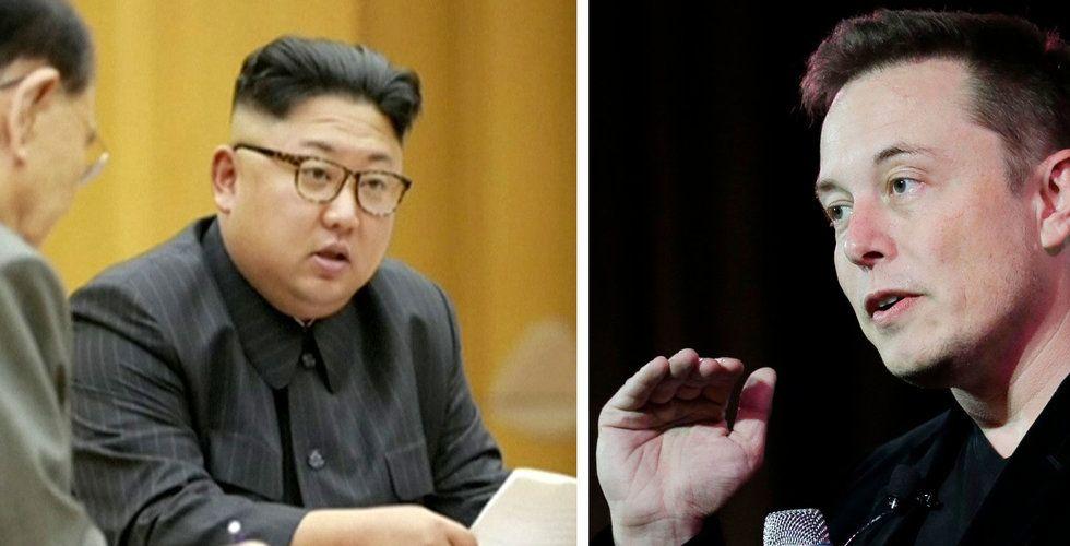 Hela världen håller andan - men Elon Musk räds inte Nordkorea