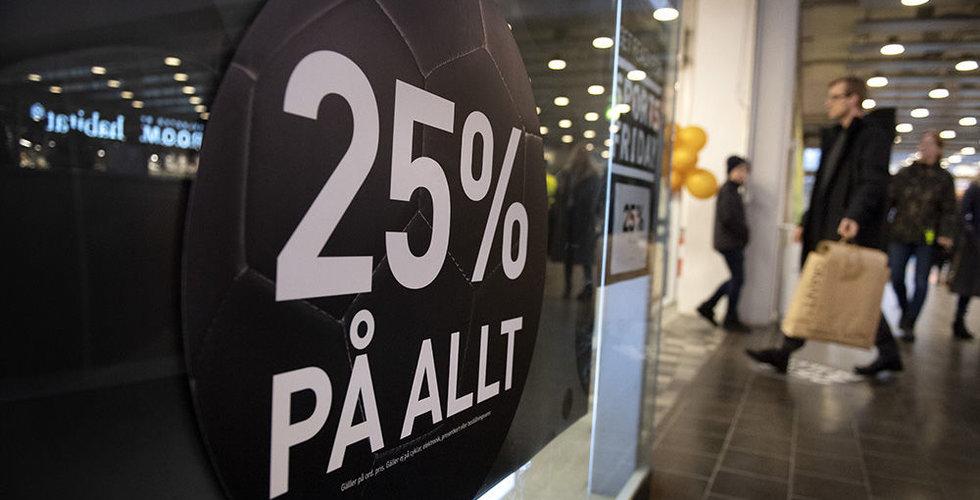 Svenskarna flydde köpcentren under Black Friday