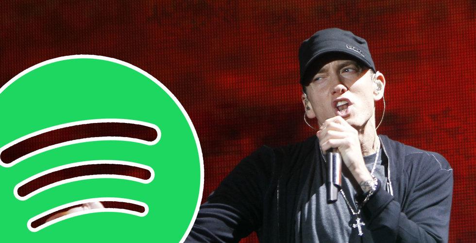 Eminem stämmer Spotify – uppges ha använt stjärnans låtar utan lov