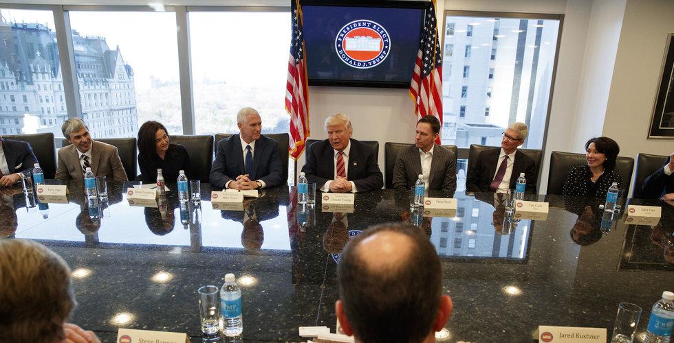 Breakit - Så här såg det ut när Donald Trump träffade världens tyngsta techledare