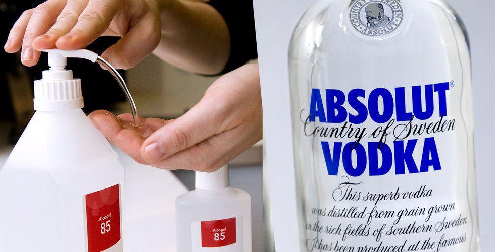Vodkan kan bli handsprit – Absolut vill hjälpa svenska myndigheter: Vi kan leverera