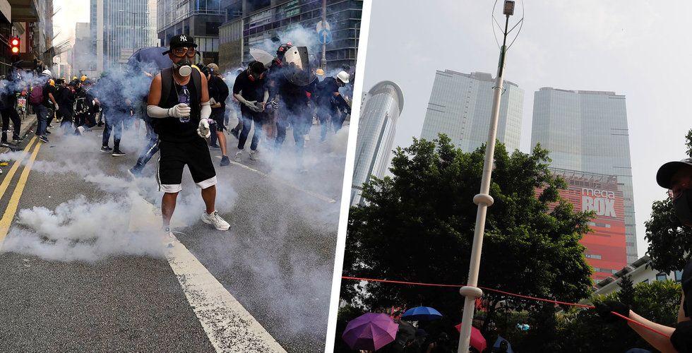 """Hongkong-demonstranter fruktar ansiktsigenkänning: """"Väldigt oroliga"""""""