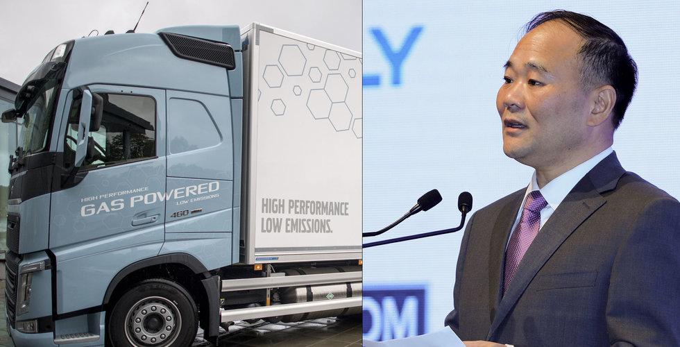 Geelys ordförande har storköpt post i Volvo-konkurrenten