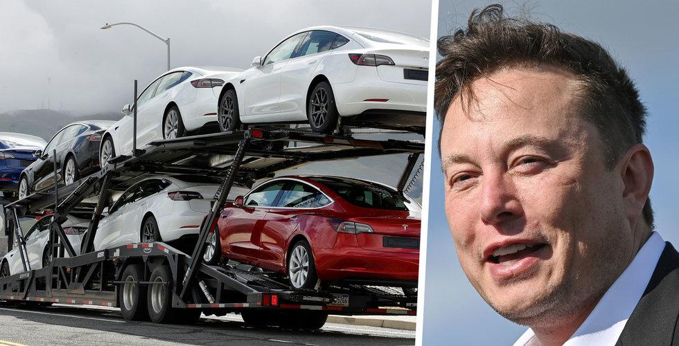 Teslas kvartalssiffror bättre än förväntat – aktien stiger