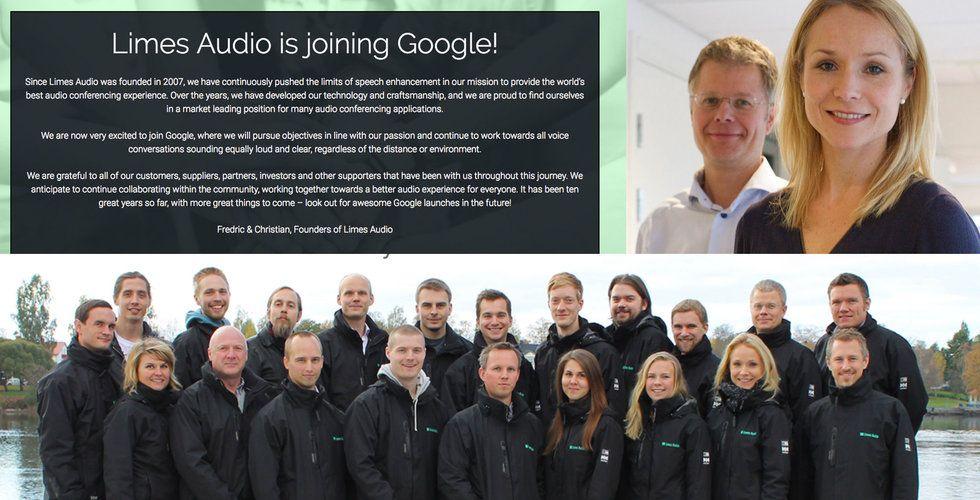 Bomben: Google köper upp den Umeå-baserade startupen Limes Audio