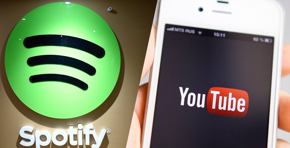 Youtube Premium och Music långt efter Spotify och Apple Music