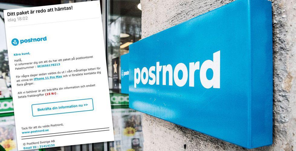 Postnord varnar för falska mejl och sms