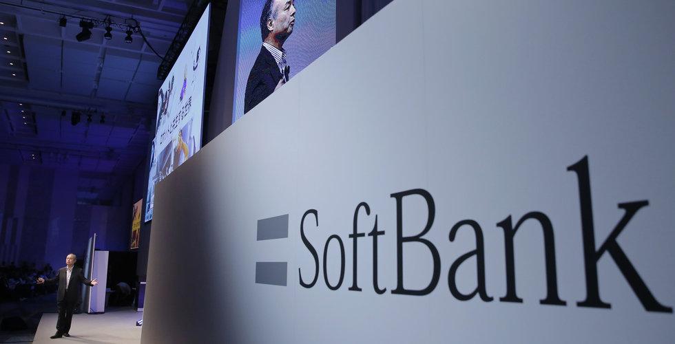 Ras för Softbanks mobilenhet vid börspremiären