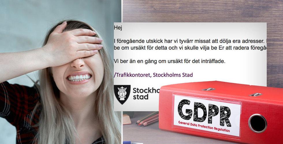 Skulle informera om GDPR – råkade röja allas mejladresser