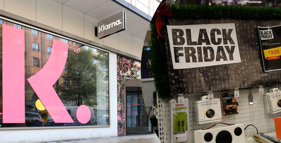 Klarnas statistik visar stort köptryck under första timmen av Black Friday