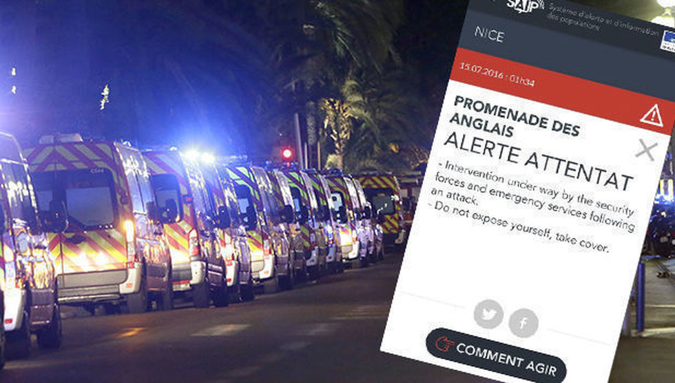 Breakit - Fransk terrorapp kritiseras för sent larm efter dådet i Nice