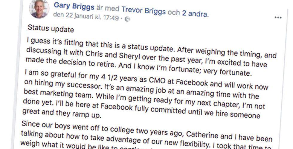 Breakit - Facebooks marknadschef lämnar – ska satsa på politik