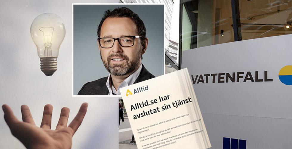 """Därför gick Vattenfalls startup i graven: """"Marknaden inte redo"""""""