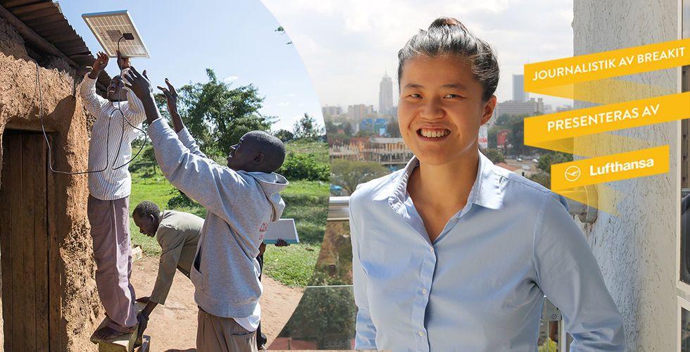 Hanna Lindquist flyttade till Nairobi för att göra solel till ditt nästa sparkonto