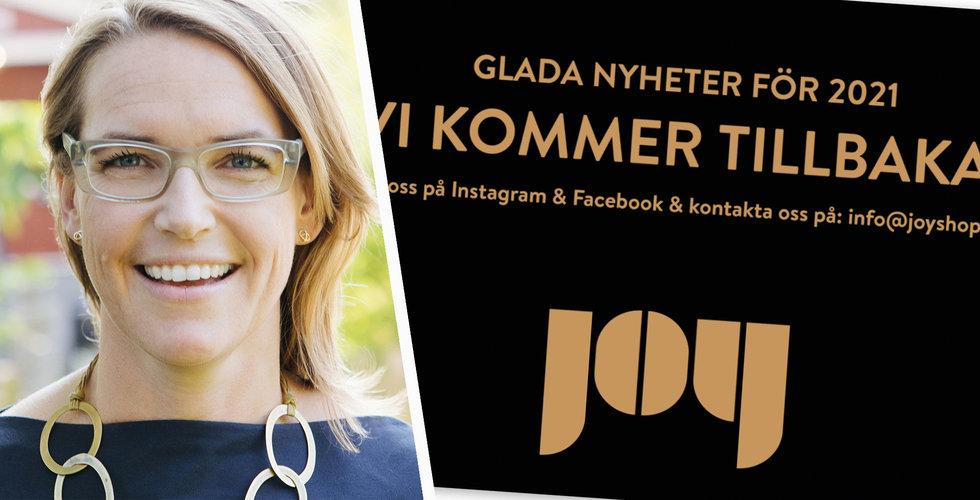 Joy återuppstår trots konkursförvaltarens tvivel – Anna Ullman Sersé tar över rodret