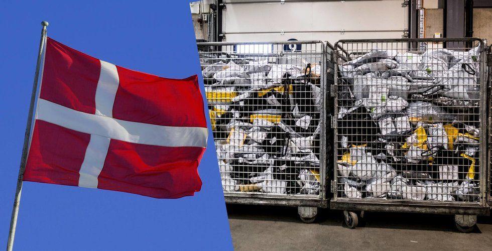 Så stor är Postnords avgift för Kinapaket i Danmark