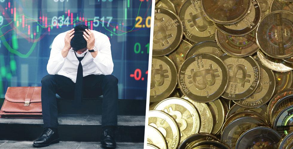 Bitcoin och andra kryptovalutor faller över 10 procent