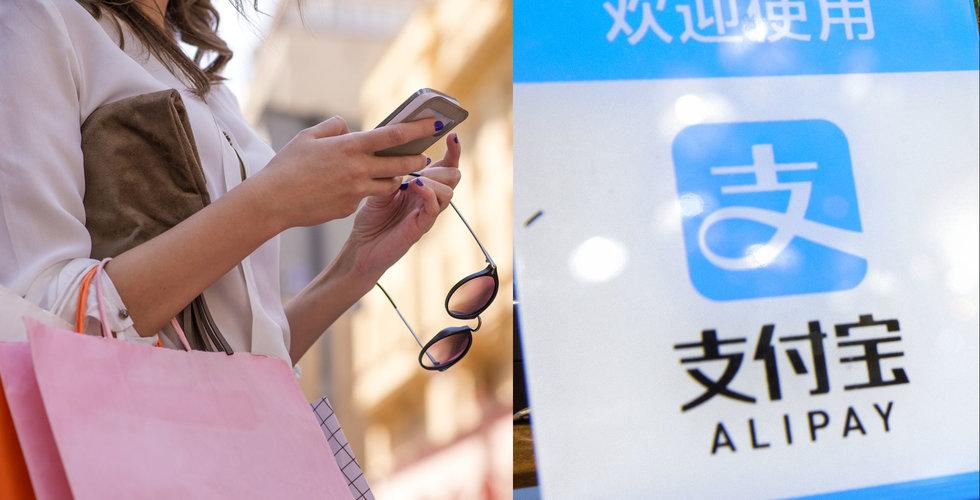 Kinesiska Alipay tredubblade i Europa på ett år.
