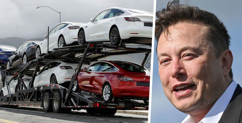 Musks nya mål för Tesla – ska bygga dubbelt så många bilar som Volkswagen