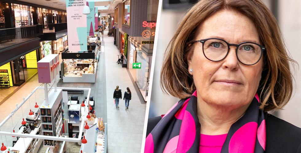 Framtidsindikatorn för butiker och e-handeln sjönk i september