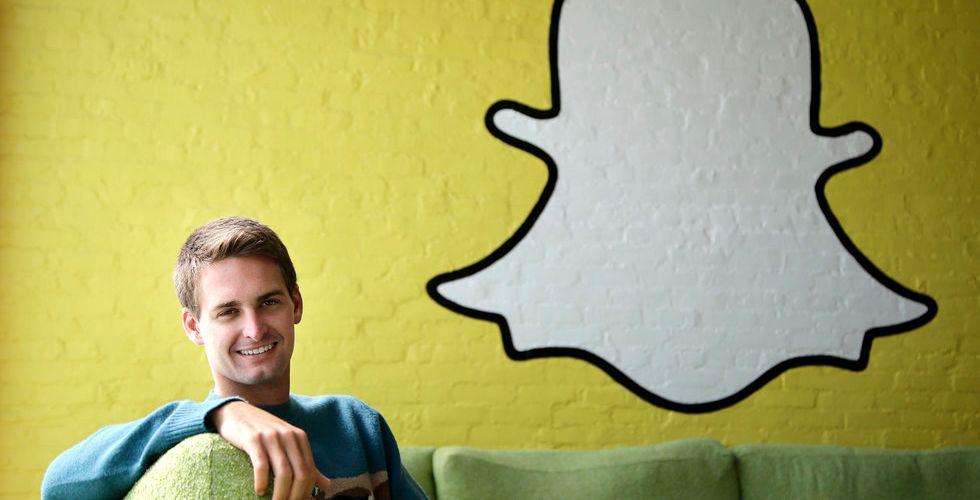Skyhögt värderade Snapchats grundare: Vi är i en techbubbla