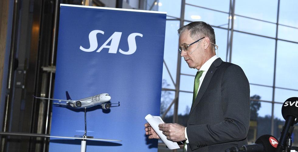Storförlust för SAS – backar 3,3 miljarder