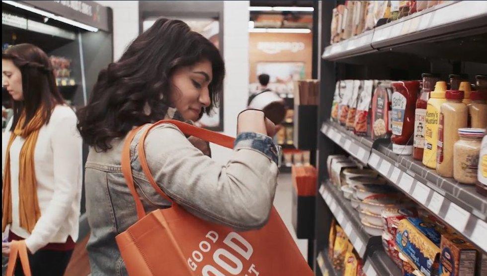 Breakit - Amazons nya butik: Ta varorna och gå - utan att passera kassan