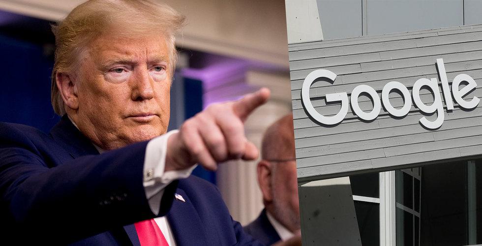 Trump påstod att Google och 1700 ingenjörer just nu bygger en corona-sajt – men det stämde inte riktigt
