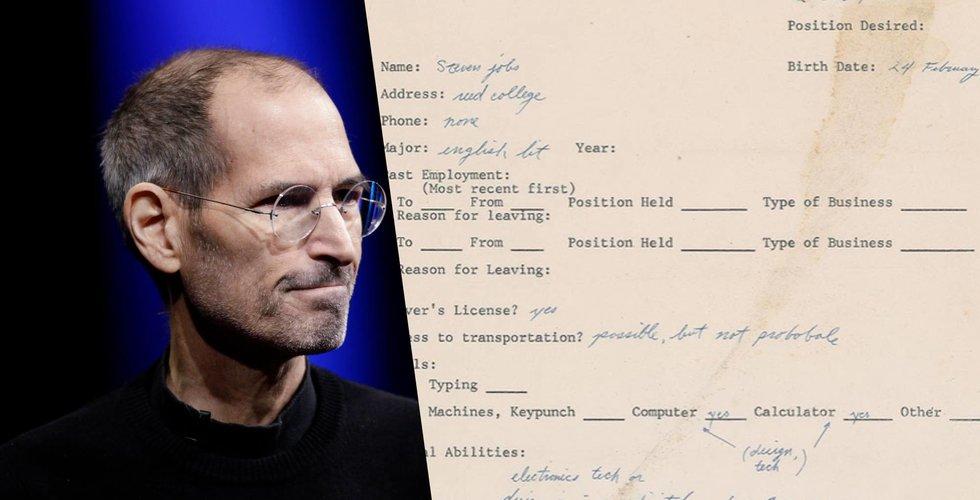 Breakit - Detta skrev Steve Jobs i sin första jobbansökan