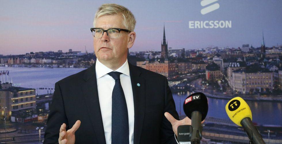 Ericsson vinstvarnar – aktien faller