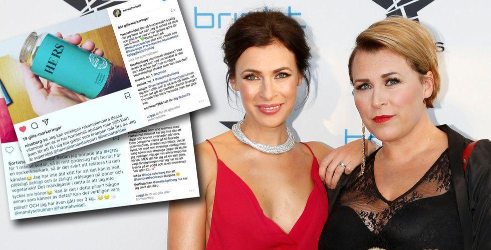 Skarp kritik mot Hannah Widell och Amanda Schulmans nya kosttillskott Hers