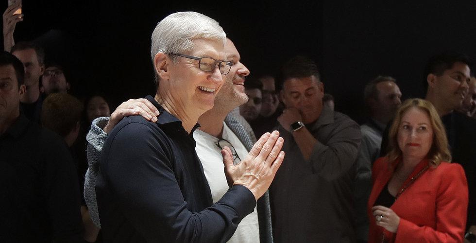 Apples marknadsvärde uppe i rekordnivåer igen