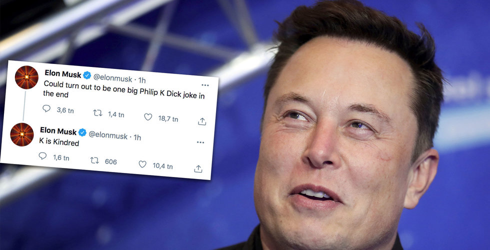 Elon Musk skämtar på Twitter – Kindred stiger