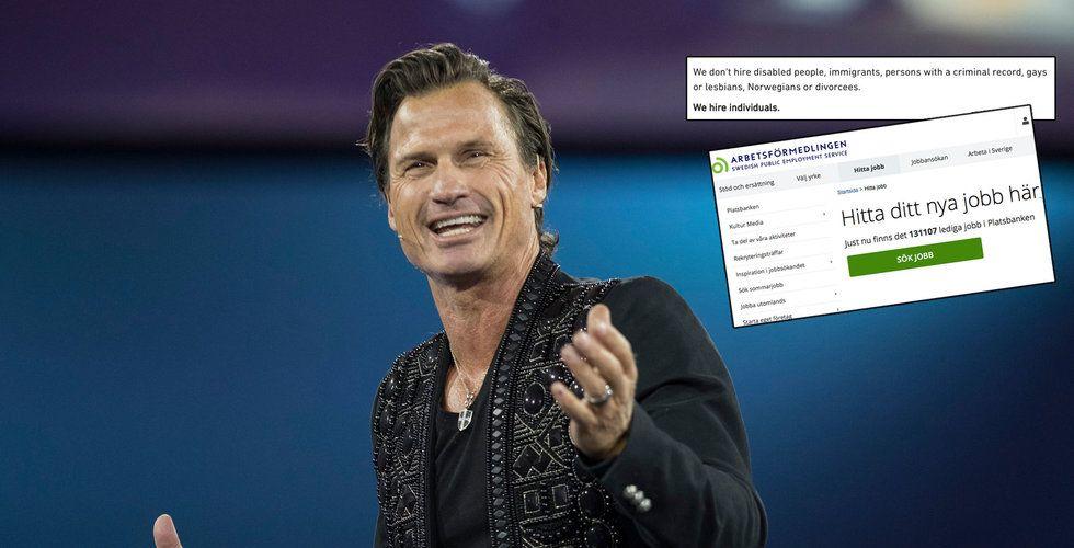 Petter Stordalens annons blev droppen för Arbetsförmedlingen