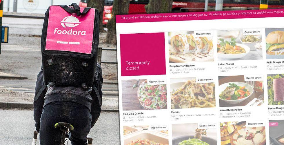 Foodoras system kraschar – tvingas skicka hem alla cykelbud