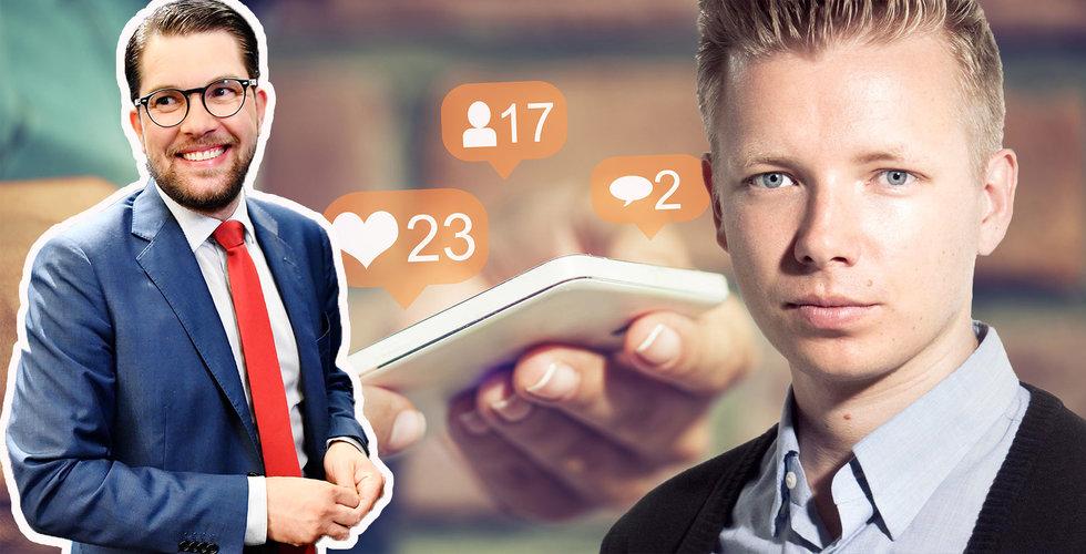 """Emanuel Karlsten: """"Kan vi sluta hylla Sverigedemokraternas framfart i sociala medier?"""""""