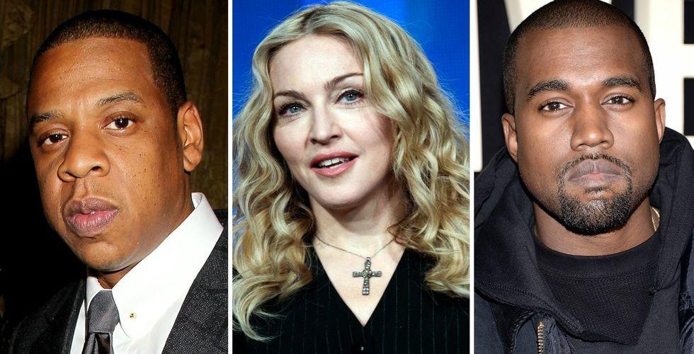 Madonna och Kanye West går till Jay Z:s streamingtjänst Tidal - Spotify-användare får vänta