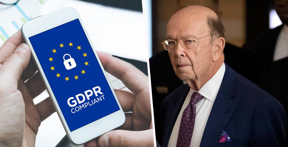 Vita huset: GDPR hotar samarbeten mellan EU och USA