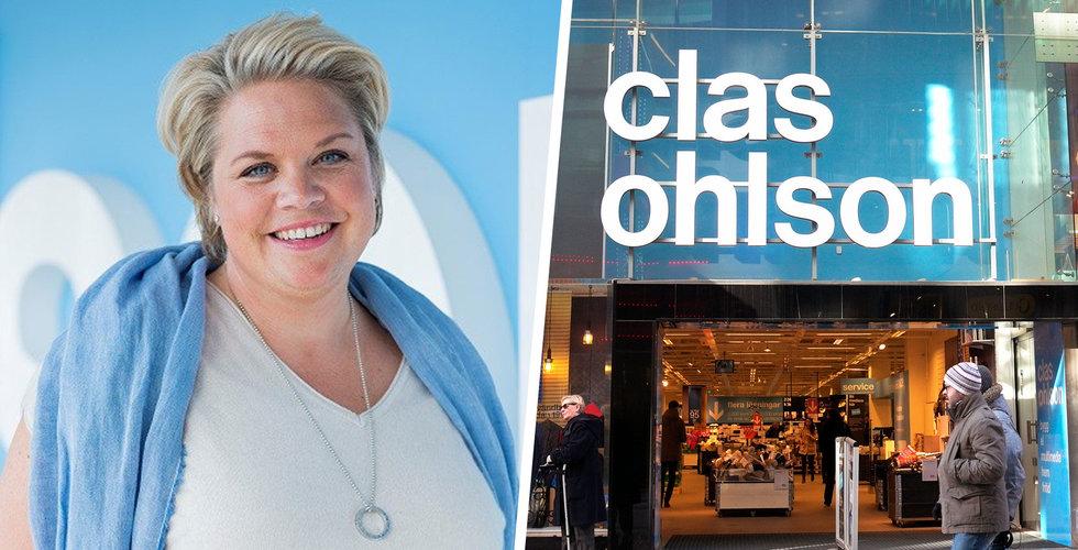 Clas Ohlsons totala försäljning sjönk 2 procent i december