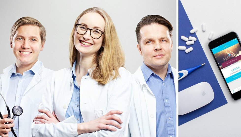 Finska läkarappen Meedoc tågar in i Sverige med stor krigskassa