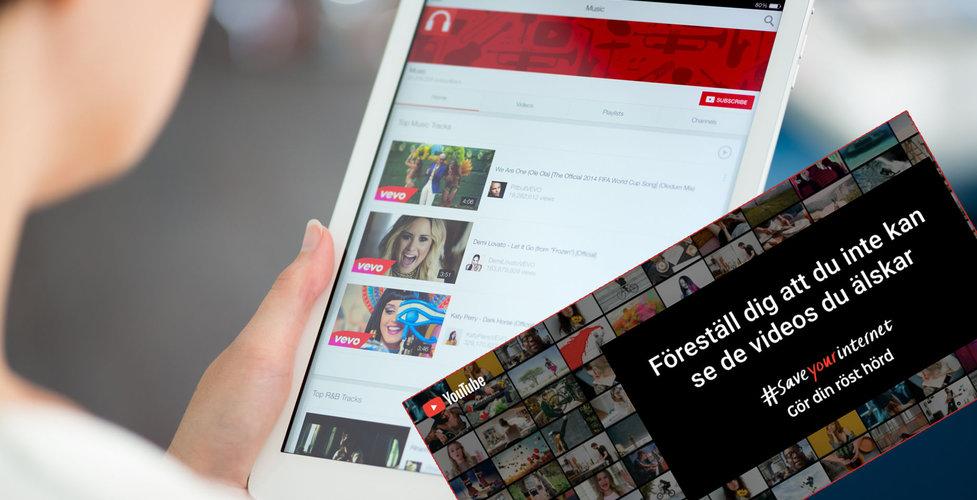 Youtube raggar svenska profiler i attack mot EU:s innehållsfilter