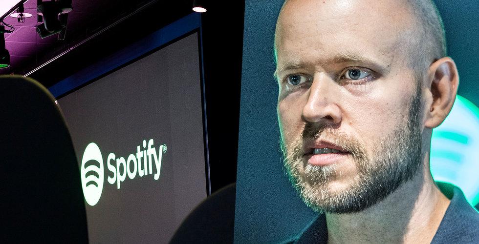 Spotify ska återköpa aktier för max 1 miljard dollar