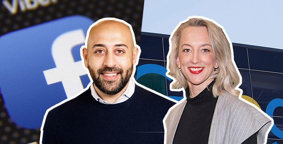 Sam Rihani Sverigechef Facebook och Anna Wikland Sverigechef Google. Foto: Pressbild/TT/Montage