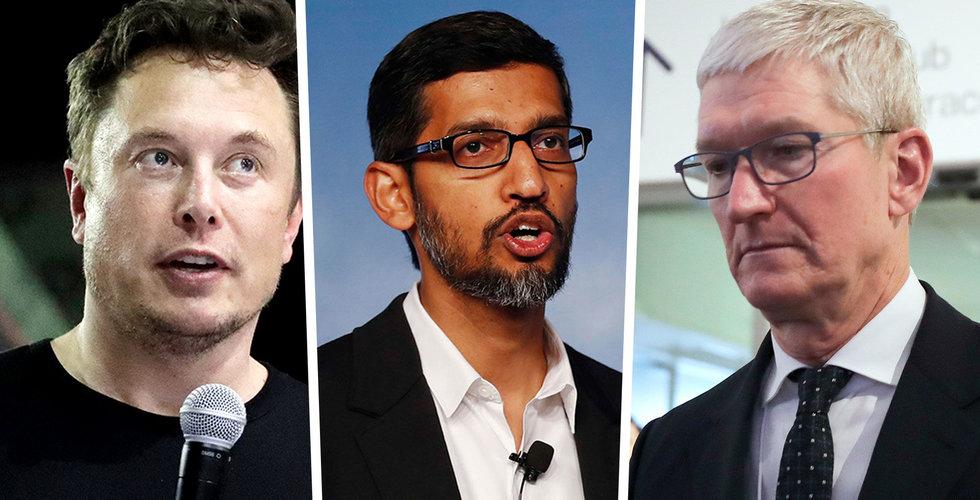 Techslakt på Wall Street – jättarna har tappat tusen miljarder dollar (!) i börsvärde