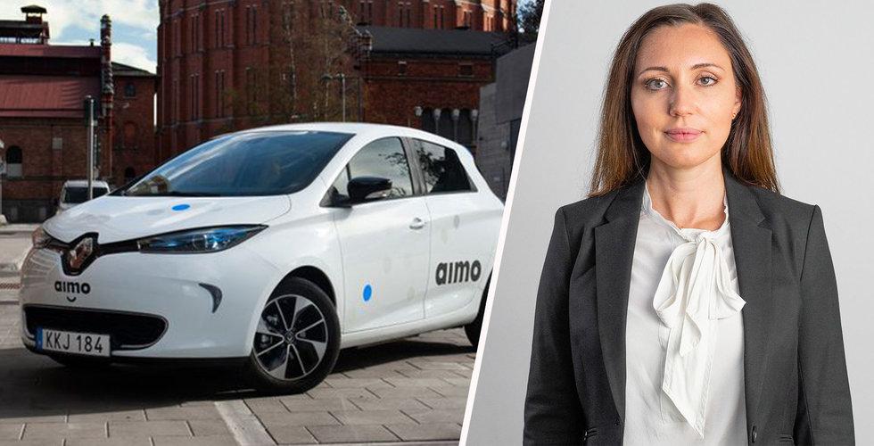 Nu rullar Aimos bilar i Stockholm – ska göra vad de tyska jättarna inte klarade